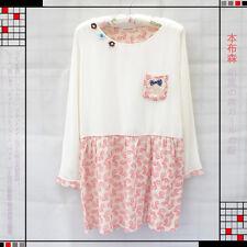 Brand New Korean Style Bow Pockets Shirt Blouse DressTop Size XS