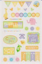 Mrs. Grossman's Giant Stickers - Baby Shower - Bundle of Joy, Welcome - 2 Strips