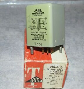 New Old Stock Vintage TRIAD HS-436 Power Filament Transformer 400CPS 535V