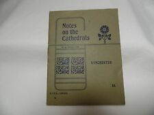 Vintage Pamphlet Notes on the Cathedral - Winchester London