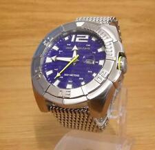 Para Hombres Tiburón Malla Acero Body Glove 300m Water Sport Reloj de Buceo Surf H2O Azul