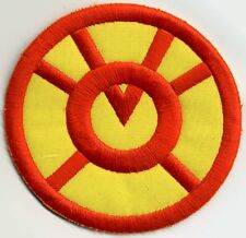 """2.5"""" Orange Lantern Corps Classic Style Embroidered Patch Variant on yellow"""