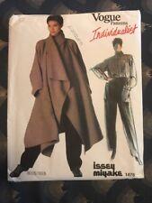 Vogue Individualist Issey Miyake 1476 Coat Shirt Pants Size 10 Uncut Pattern
