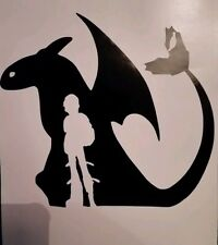 HTTYD Hiccup & Toothless How To Train Your Dragon 2 Wall Vinyl Decal A4