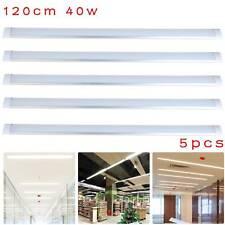 5× 120CM LED Slim Ceiling Batten Tube Light 40W Fluorescent Bar Lamp Cool White