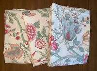 3 POTTERY BARN Euro Size Pillow Shams 29x29 Jacobean Floral Beige Pink Green Red