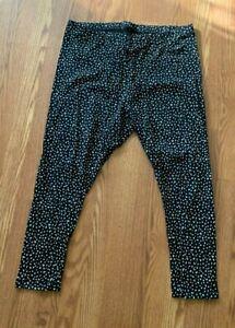 OLD NAVY Women's JERSEY ELASTIC WAIST LEGGINGS , Black Cheetah, 2X