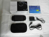 X1746 Sony PSP 3000 console Piano Black Handheld system Japan w/box battery