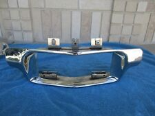 1958 CADILLAC FRONT BUMPER LICENSE PLATE CHROME GUARD REPLATED