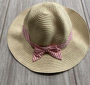 Gymboree Sun Hat With Stripe Ribbon