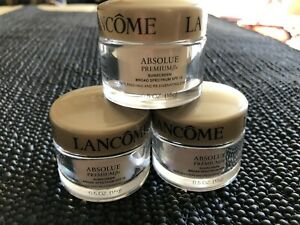 3 X Lancome Absolue Premium Sunscreen Broad Spectrum SPF15 Day Cream .5 oz Each