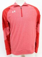 Under Armour NWT $70 Men's 1/2 Zip Jacket Long Sleeve Size Small Red