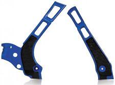 Acerbis X Grip Frame Protectors Guards Yamaha YZ125 YZ250 YZ Blue / Black