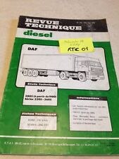 Revue Technique Automobile Diesel Camion DAF 2805 3305 3605 RTA ETAI