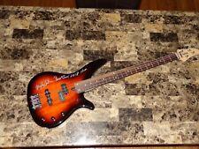 Alec John Such Signed Bass Guitar Bon Jovi Hall of Fame Inscription Photo + COA