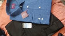 NEW MEN'S LONG SLEEVE 2 x  SHIRTS, 2 x BT TROUSERS and 2 x NECK TIES