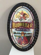 "New listing Vintage Budweiser ""King of Beers"" Oval Beer Bar Sign."