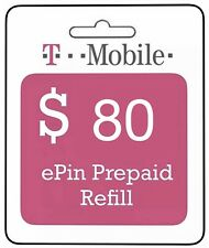 $80 T-Mobile Prepaid ePin for $60.00