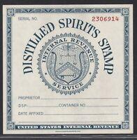 Distilled Spirits Tax Paid Internal Revenue Stamp