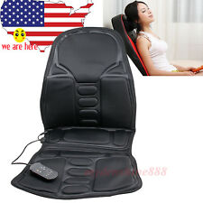 BODY Massage Cushion vibration Heat Seat Neck Pain Lumbar Support Pads Car chair