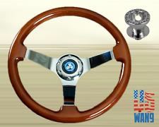96-00 Honda Civic EK EM1 Classic Wood Deep Steering Wheel + Alloy Hub Adaptor