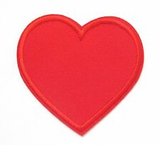 Red Love Heart Iron On Patch- Romantic Valentines Gift Embroidered Applique