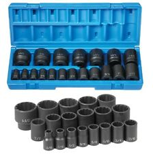 "Grey Pneumatic 1719 1/2"" Drive 19piece 12point Standard Length Impact Socket Set"