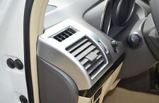 2x Chrome Interior matt Air Vent Outlet Cover Trim For Toyota Prado FJ150 10-16