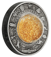GOLDEN TREASURES OF ANCIENT EGYPT 2$ Tuvalu 2019 2 Oz Silver Coin