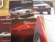 vintage 1960's,70s ,80s,90s FORD dealer brochures-MUSTANG-set of 5-some wear