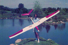"""Large Scale BORNE FREE scratch build r/c GLIDER Plans & instruction 130""""Wingspan"""
