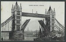 London Tower Bridge Vintage Auto Photo Series Printed Postcard