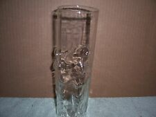 Vintage Strip Club Tall Sculpted Nude Women Cocktail Glass 8 3/4 tall