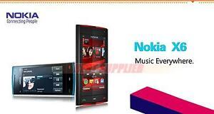 Original Nokia X6 X6-00 8Gb/16Gb ROM 3G Wifi GPS 5mp Touchscreen Cell phone