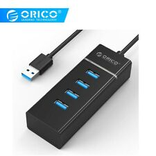 Ultra Mini 4 Port USB3.0 Super Speed HUB Power Adapter for PC Laptop Notebook