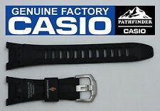 CASIO PATHFINDER PAW-1300 Original Black Rubber Watch BAND Strap  PRG-110
