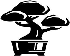 Bonsai Bonsaï Little Tree Japan Asian Wall Art Vinyl decal Die Cut Sticker 12""