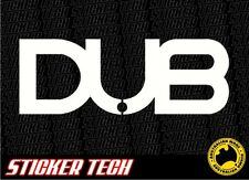 DUB VINYL STICKER DECAL SUITS 22 24 26 INCH CHROME WHEELS MAGS SUV 4X4 4WD VW