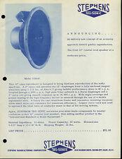 Rare Vintage Collectible Stephens Tru-Sonic Speaker Dealer Brochure Info Ad