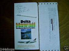 CHICAGO CUBS  - RICK REUSCHEL  - AUTOGRAPH ON DELTA TICKET ENEVELOPE