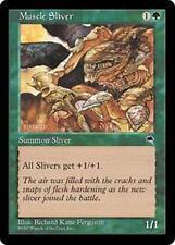 MUSCLE SLIVER Tempest MTG Green Creature — Sliver Com