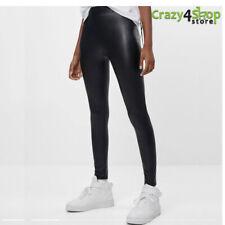 Leggins effetto pelle leggings aderente donna sexy pantaloni nero nuovo