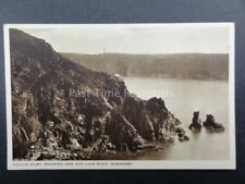 Channel Islands: GUERNSEY Moulin Huet shows Dog & Lion Rock Old PC by B.B.London