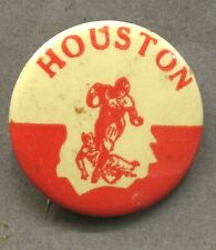"1940's to 1950's HOUSTON Illustrated football large size 1.5"" pinback button ^"