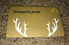 MCDONALD'S 2014 ARCH GIFT CARD GOLD GLITTER ANTLERS NO VALUE COLLECTIBLE NEW