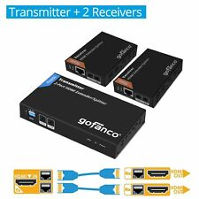 gofanco 2-Port HDMI Extender Splitter over CAT5e/6 – 165ft (50m) (HDExt2P-Pro)