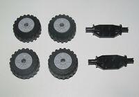 Lego ® Lot x4 Roue Voiture Jante Pneu Essieu Tire Car Wheel 55981+56891+47720