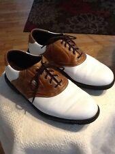 Footjoy Superlites Men's style 58049 Size 8.5 Medium brown white