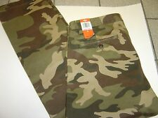 NEW MENS DOCKERS OLIVE FATIGUES FLAT FRONT SLIM TAPERED PANTS SIZE 33 X 30