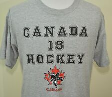 Canada Is Hockey t-shirt gray large Toronto Montreal Vancouver